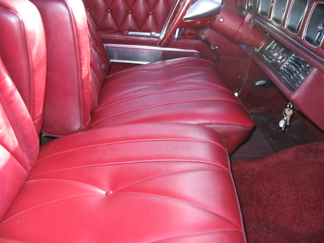 1968 Continental Mark III interior