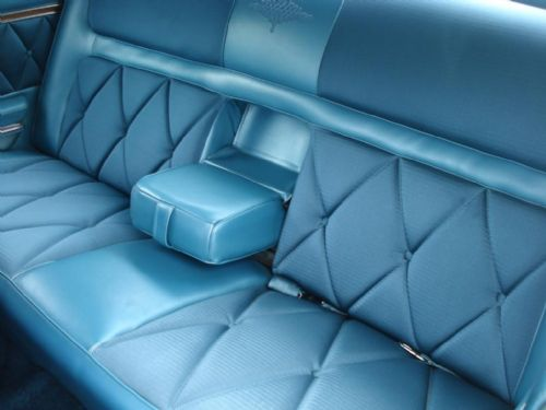 1969 Continental Mark III rear seats