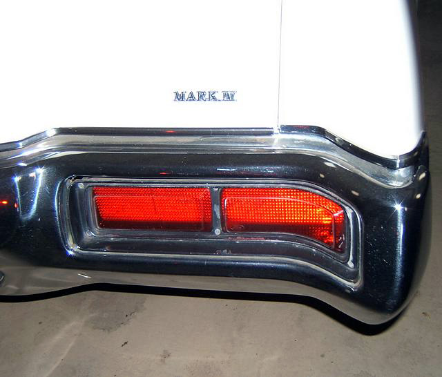 1973 Continental Mark IV - taillights - soon to be changed for 1974