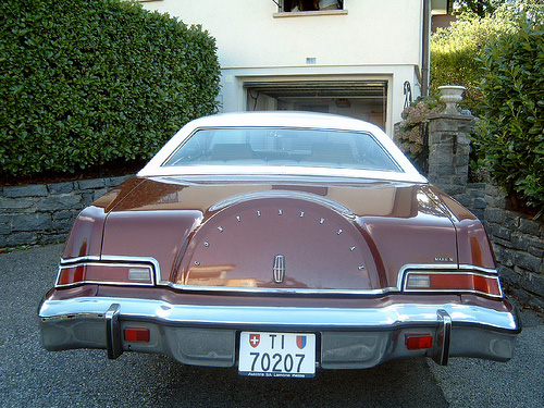 1974 Continental Mark IV modified rear for this year and the following