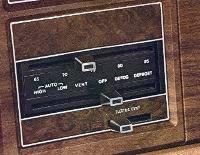 1974 Continental Mark IV automatic temperature control - standard