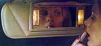 1974 Continental Mark IV illuminated visor vanity mirror - optional