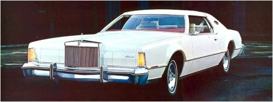 1975 Continental Mark IV - Lipstick and White Luxury Group option