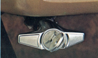 1975 Continental Mark IV - locking hood latch release - optional