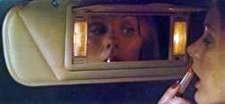 1976 Continental Mark IV - illuminated visor vanity mirror - optional