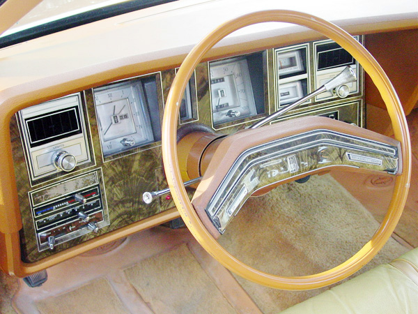 1977 Continental Mark V Bill Blass dashboard