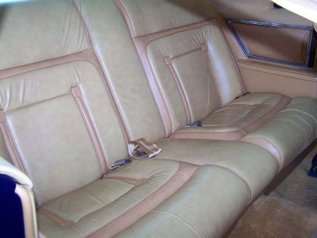 1977 Continental Mark V Bill Blass Leather rear seats