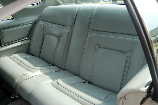 1977 Continental Mark V Cartier w/leather interior - rear seats