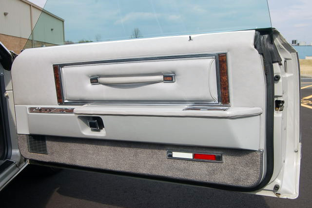 1977 Continental Mark V Cartier door panel w/leather interior