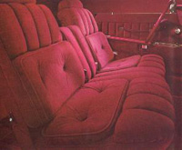 1977 Continenal Mark V Majestic velour interior - optional