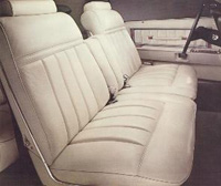1977 Continental Mark V leather and vinyl interior - optional