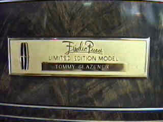 1977 Continental Mark V Pucci 22-karat gold owner's name insturment panel plaque