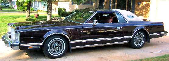 1978 Continental Mark V Bill Blass w/landau vinyl roof