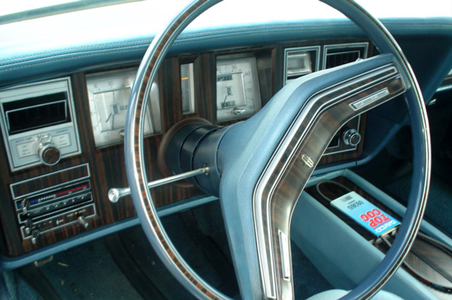 1978 Continental Mark V Diamond Jubilee Edition special wooden appliqués