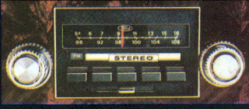 1978 Continental Mark V AM/FM Stereo radio - optional