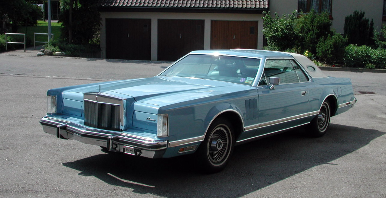1978 Continental Mark V Luxury Group in Wedgewood Blue and White