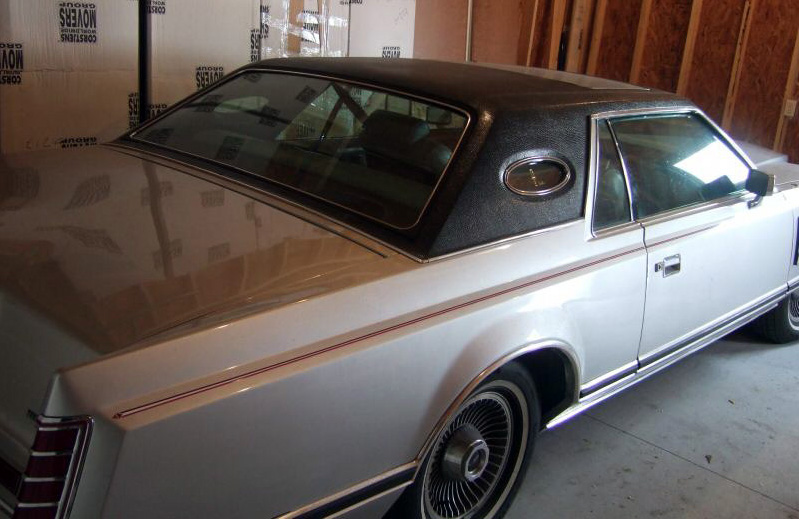 1978 Continental Mark V Pucci w/Full Vinyl roof in Black Cayman grain and optional moonroof