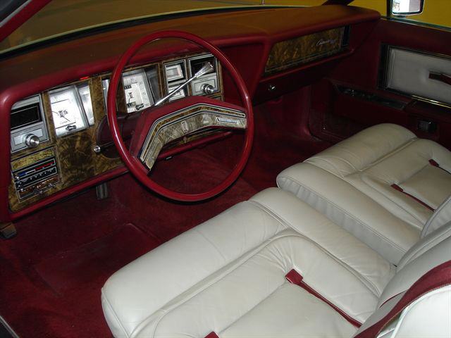 1978 Continental Mark V Pucci dove grey with dark red trim interior