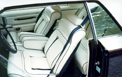 1979 Continental Mark V Bill Blass white leather interior