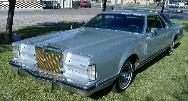 1979 Continental Mark V Collector's Series in silver