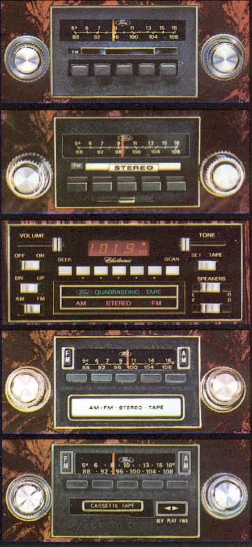 1979 Continental Mark V AM/FM Radio options