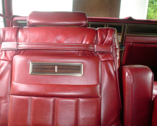1980 Continental Mark VI Signature Series seat w/woodtone inserts and map pockets
