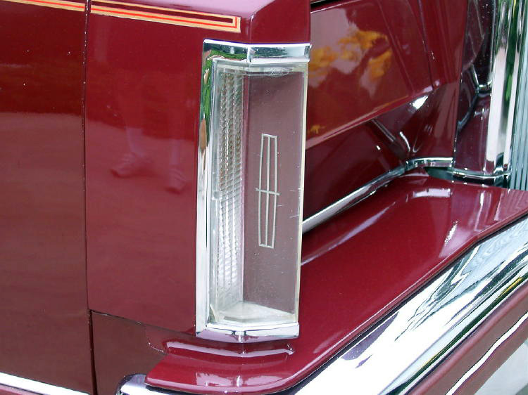 1980 Continental Mark VI Signature Series in Maroon w/color keyed parking light lens