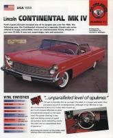 1959 Continental Mark IV - IMP Brochure