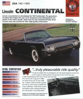 1961-69 Lincoln Continental - IMP Brochure
