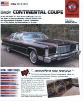 1970-79 Continental Coupé - iMP Brochure