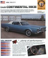 1968-1971 Continental Mark III - IMP Brochure