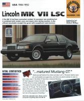 1984-92 Lincoln Mark VII LSC - IMP Brochure