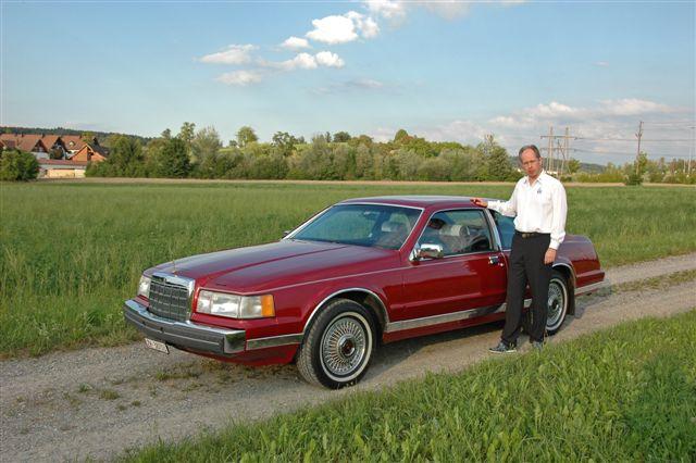 Fredi with his 1990 Lincoln Mark VII Bill Blass