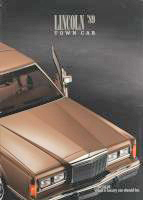 1989 Lincoln Town Car Brochure
