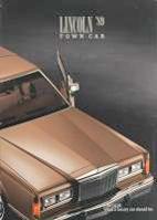 1989 Lincoln Town Car Brochure